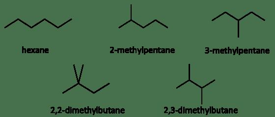 isomers of hexane