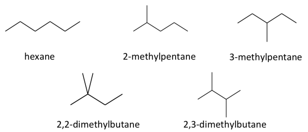 isomers of hexane
