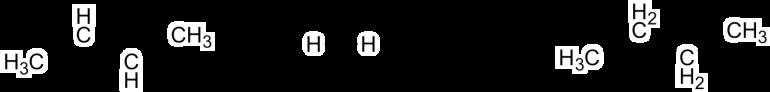 Alkene and H2