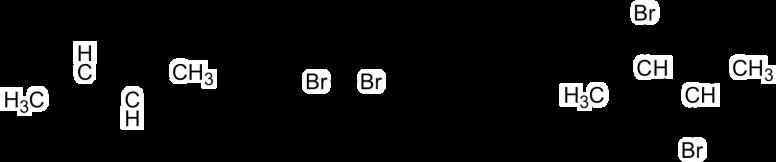 Alkene and halogen