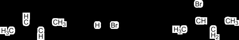 alkene and HBr